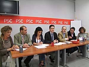 Set dels vuit regidors que té el grup socialista al consistori vilafranquí