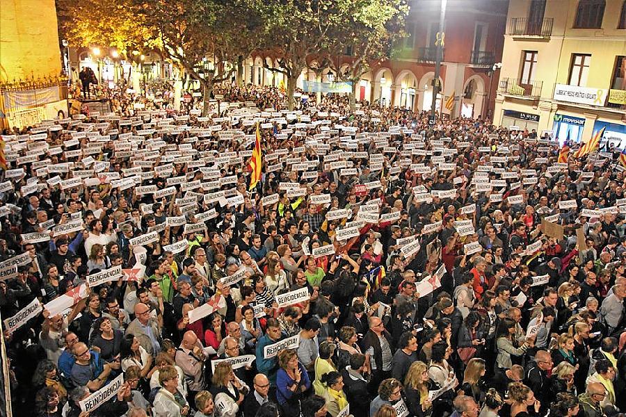 Concentració a Vilafranca. Foto: Maria Rosa Ferré