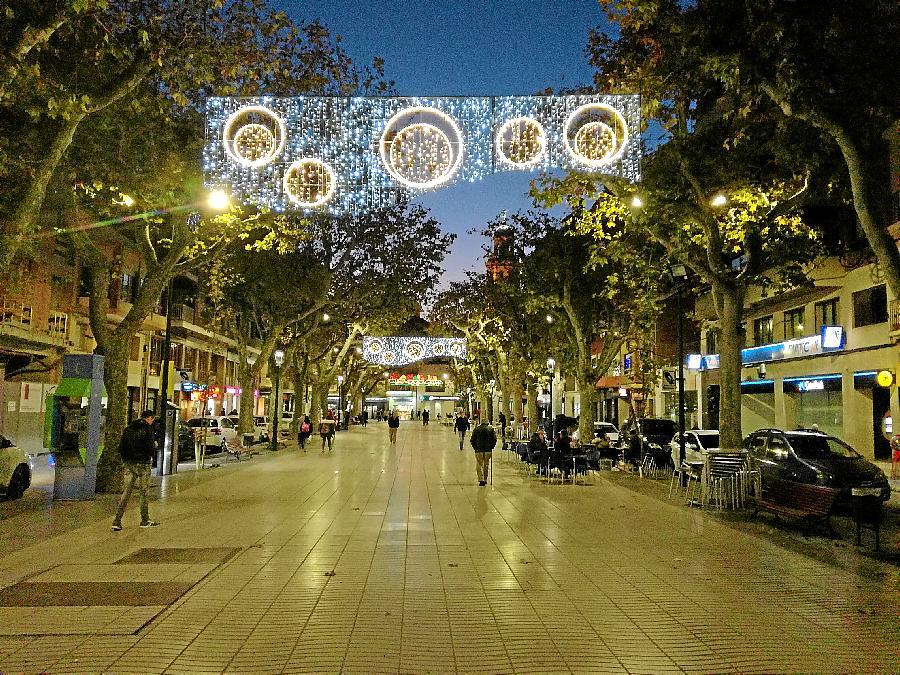 Una imatge de l'enllumenat nadalenc de l'any passat al Vendrell. (Foto: Ajuntament del Vendrell)
