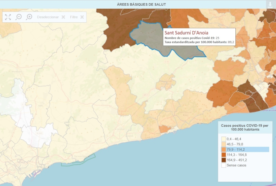Mapa Interactiu Municipis Catalunya.La Generalitat Crea Un Mapa Interactiu Per Seguir L Evolucio De La Covid 19