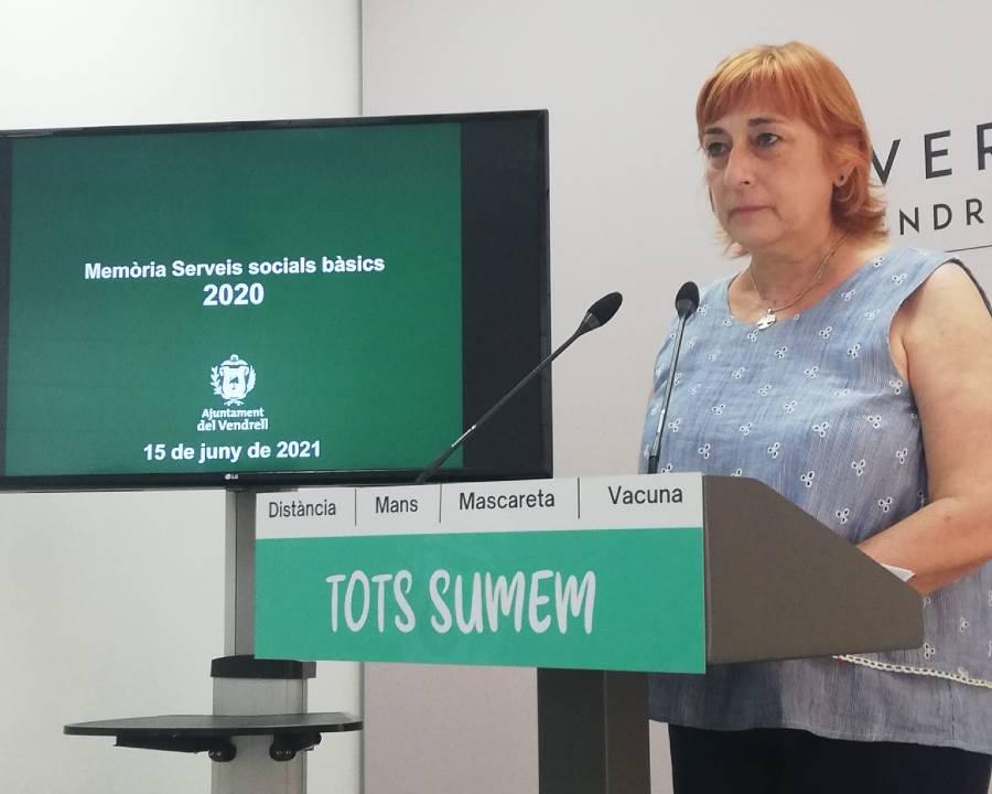 La regidora de Serveis Socials del Vendrell, Montse Martín.